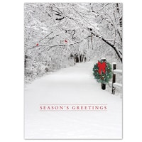 Snowy Lane Card