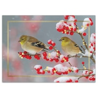 Goldfinches on Winterberry Card