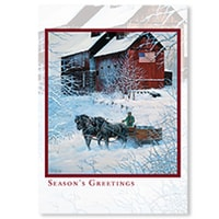 Winter Delivery Card