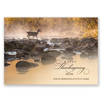 Deer Crossing the Buffalo River Card