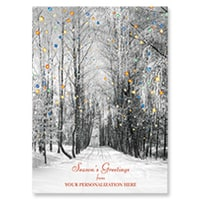 Snowy Winter Road Card