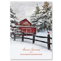 Snowy Barn Card