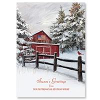 Snowy Barn Card