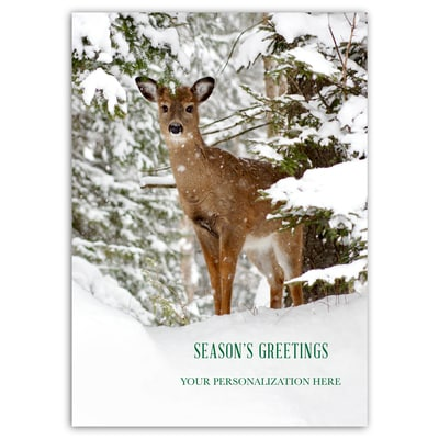 Winter Deer Card