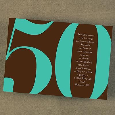 Fabulous at 50 - Invitation