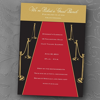 A Golden Red Carpet Event Invitation Theme Parties Carlson