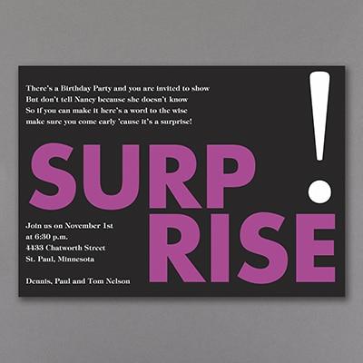 Surprise Me in Purple - Invitation