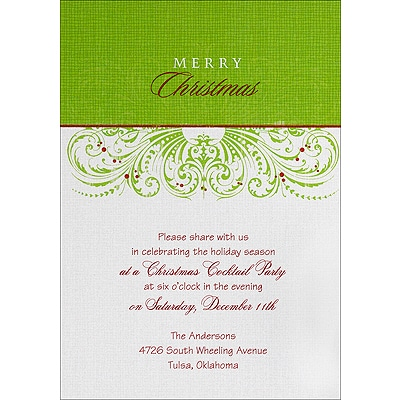 Antique Holiday - Invitation