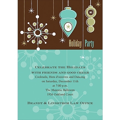 Retro Holiday - Invitation
