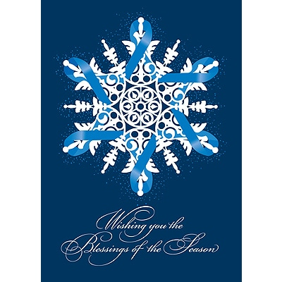 Blue Ribbon Snowflake