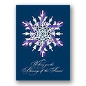 Purple Ribbon Snowflake