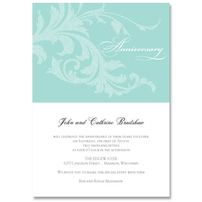 Celebration Swirls - Party Invitation