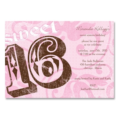 Rockin' Pink - Sweet 16 Party Invitation