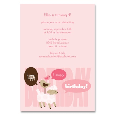 Fluffy Friends - Birthday Invitation