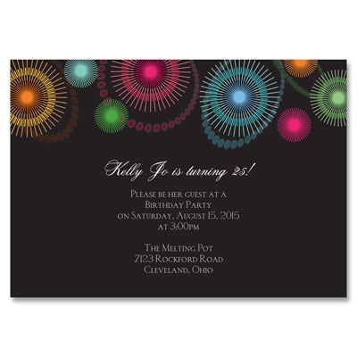 Fireworks - Party Invitation