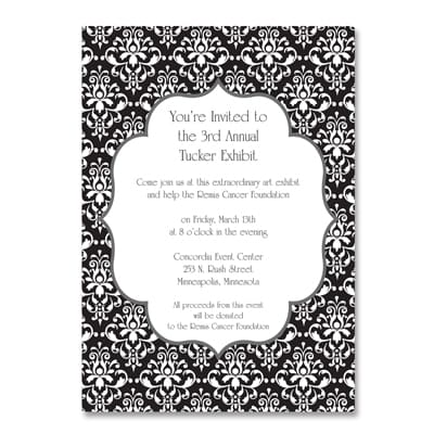 Classic Damask - Party Invitation