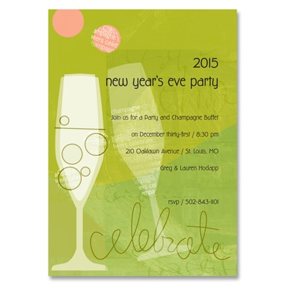 Champagne Celebration - Party Invitation