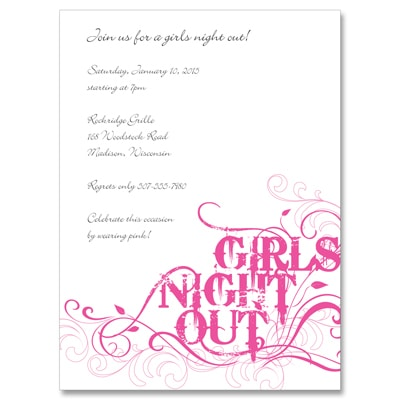 Girls Night Out! - Party Invitation