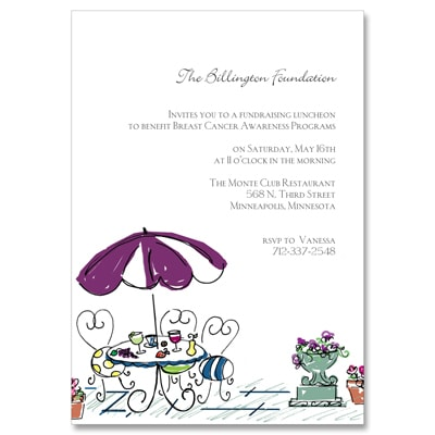 Patio Charm - Party Invitation