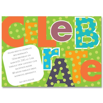 Big Celebration - Party Invitation