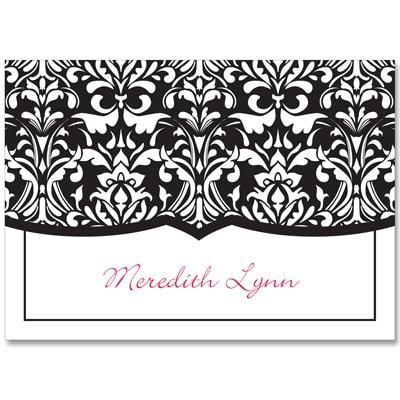 Elegant Damask - Note Card