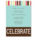 Bright Stripes - Party Invitation