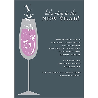 Ring in the New Year Party Invitation
