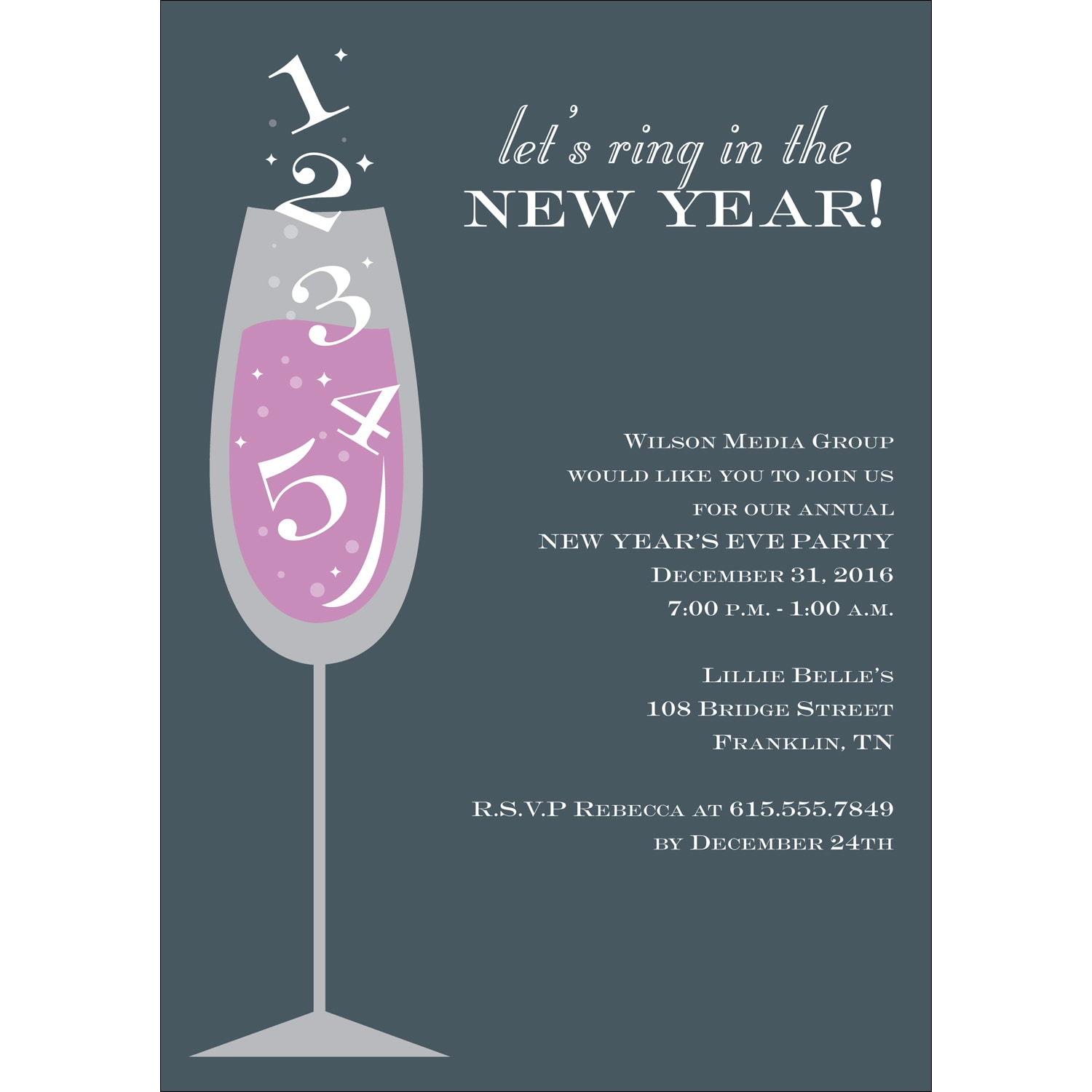 Ring in the New Year Party Invitation | acsgreetings.org
