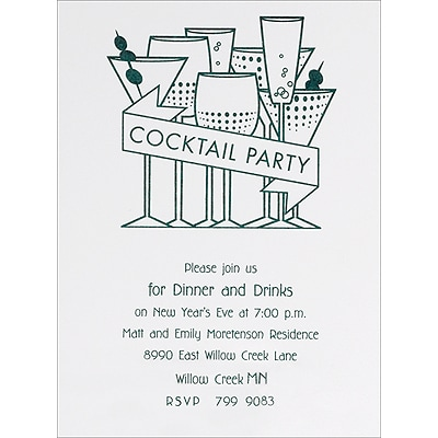 Cocktail Hour - Party Invitation