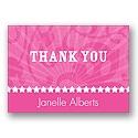Rockin' Pink - Thank You Card