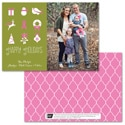 Symbols of the Season Photo Card - Pink Ribbon