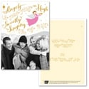 Trumpeting Angel Photo Card - Pink Ribbon
