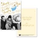 Trumpeting Angel Photo Card - Blue Ribbon