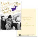 Trumpeting Angel Photo Card - Purple Ribbon