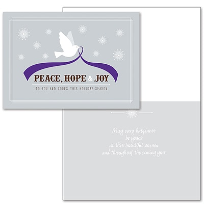 Tranquility Dove - Purple Ribbon