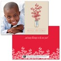 Berry Christmas Photo Card - Blue Ribbon