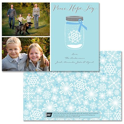 Jar of Joy Photo Card - Blue Ribbon