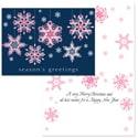 Ribbon Snowflakes - Pink Ribbons
