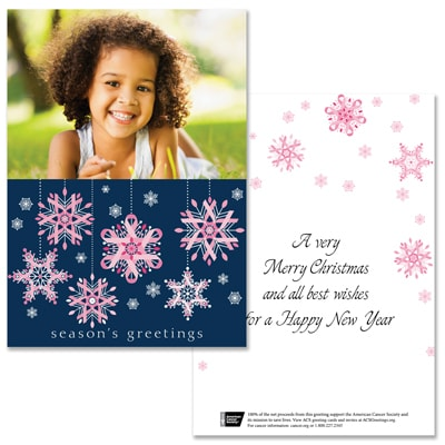 Pink Ribbon Snowflakes - 1 Photo