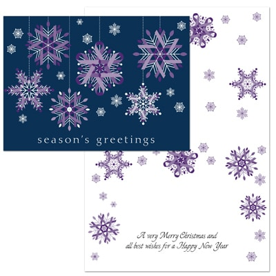 Ribbon Snowflakes - Purple Ribbons