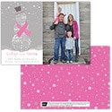 Tranquil Snowman - Pink Ribbon - 1 Photo