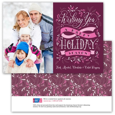 Holiday Wishes - Pink Ribbon - 1 Photo