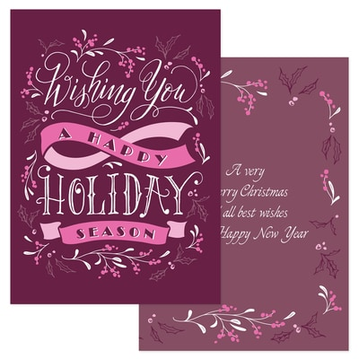 Holiday Wishes - Pink Ribbon