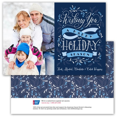 Holiday Wishes - Blue Ribbon - 1 Photo