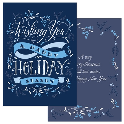 Holiday Wishes - Blue Ribbon