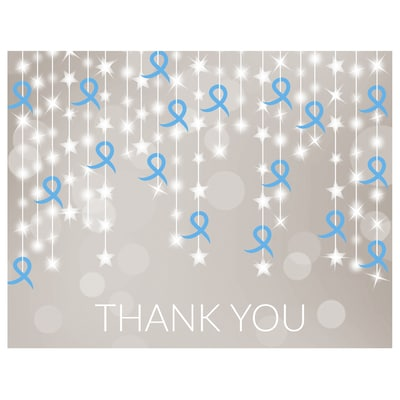 Ribbon String Thank You Card - Blue Ribbon