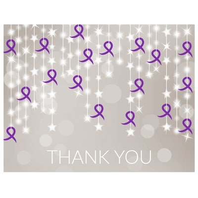 Ribbon String Thank You Card - Relay for Life