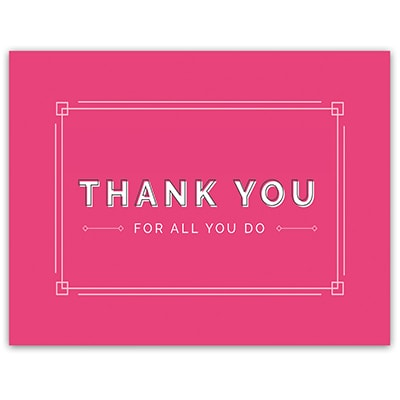 Simply Pink Thank You Note