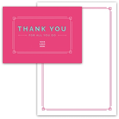 Simple Pink Thank You Card