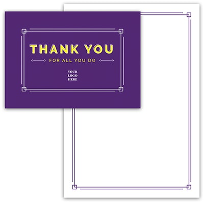 Purple Gratitude Thank You Card